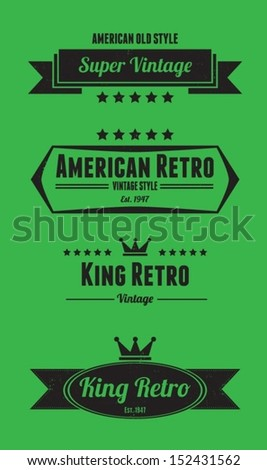 Vintage Badge Insignia Label Vector
