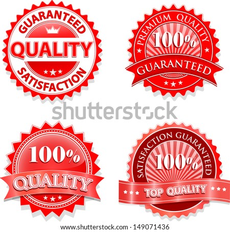 Vintage badges design set - stock vector