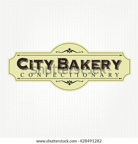 Vintage bakery Label - stock vector