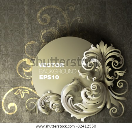 vintage banner design - stock vector