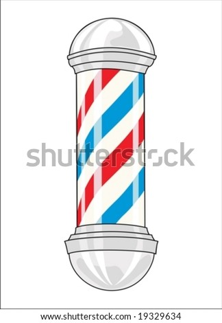Vintage barber pole (Vector)
