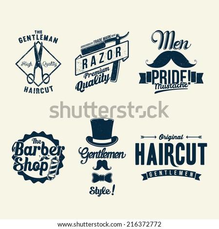 Vintage Barber Shop - stock vector