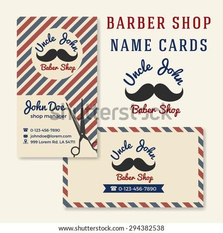 Vintage barber shop business name card stock vector 294382538 vintage barber shop business name card template wajeb Choice Image