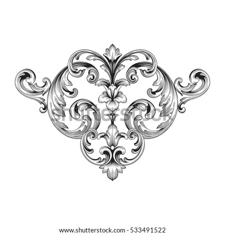 Chinaware stock images royalty free images vectors for Baroque design elements