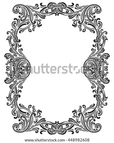 Vintage Baroque Frame Consisting Victorian Vignettes Stock Vector HD ...