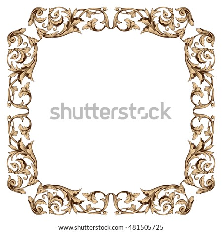 Vintage Baroque Frame Ornament Picture Border Photo