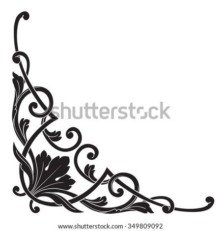 vintage baroque frame scroll ornament engraving stock vector rh shutterstock com