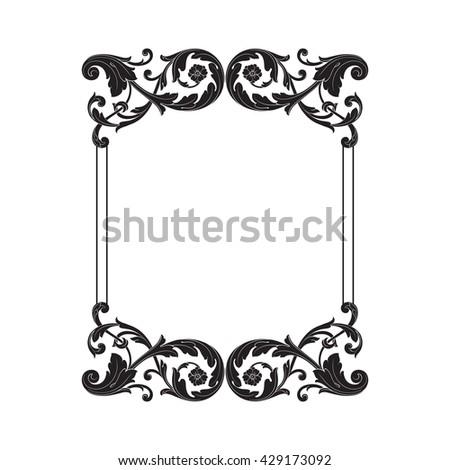 Vintage baroque ornament. Retro pattern antique style acanthus. Decorative design element filigree calligraphy - stock vector