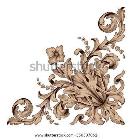 Vintage baroque ornament retro pattern antique stock vector vintage baroque ornament retro pattern antique style acanthus decorative design element filigree calligraphy vector junglespirit Image collections