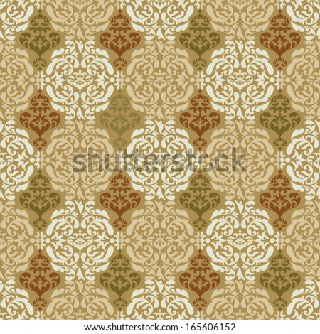 Vintage beautiful background with rich, exclusive, artistic, luxury ornamentation, fashioned seamless pattern, royal, vector wallpaper, floral, oldest style swatch fabric for decoration and design