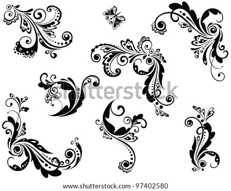 Vintage beautiful design - stock vector