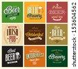 Vintage Beer set. Vector illustration. - stock vector
