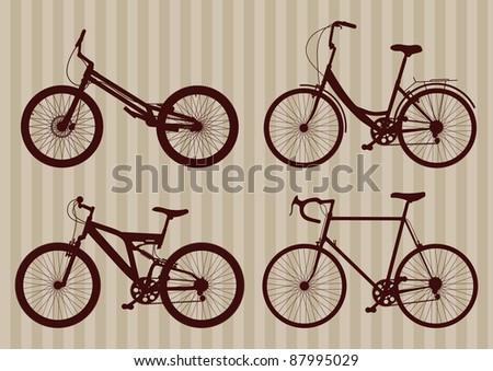 Vintage bicycle illustration collection