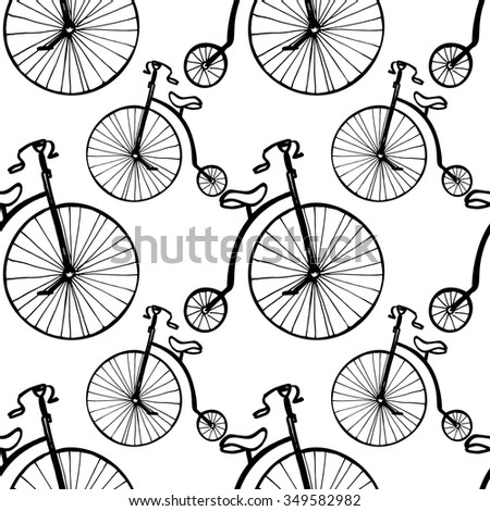Vintage bicycle seamless pattern. - stock vector