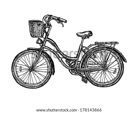 Vintage bicycle vector illustration  - stock vector