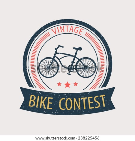 vintage bike contest vector illustration, eps10, easy to edit - stock vector