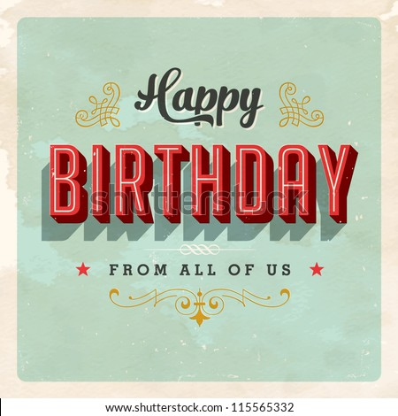 Birthday Card Images RoyaltyFree Images Vectors – How to Sign a Birthday Card