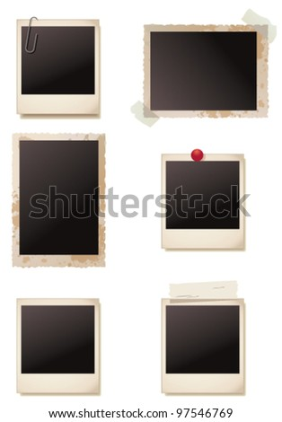 Vintage blank photo frames. Vector - stock vector