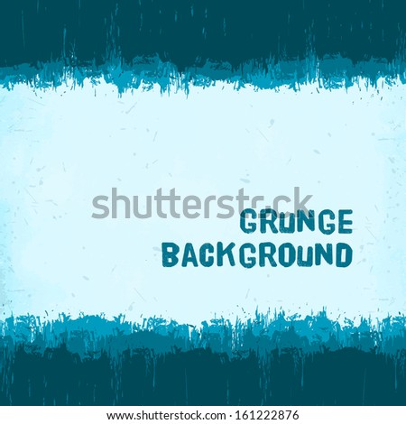 vintage blue winter grunge background  - stock vector