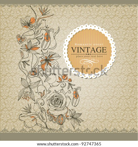 Vintage border - stock vector