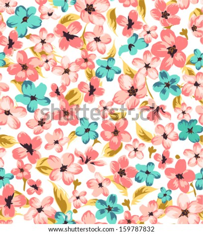 vintage branch seamless pattern background - stock vector