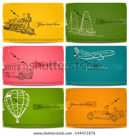 vintage business cards set. Vector illustration EPS8 - stock vector