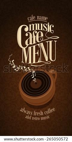 Vintage Cafe Menu Design card  - stock vector