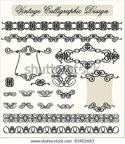 Vintage Calligraphic Design - stock vector