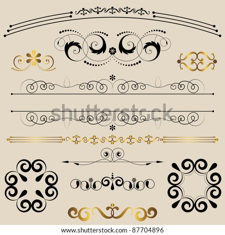 Vintage calligraphic design elements. vector.
