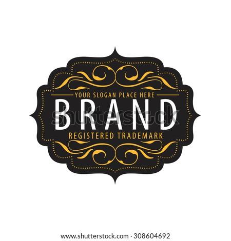 Vintage  calligraphic  frames,elements for your logo template,label,emblem,badge,brand identity,menu restaurant - stock vector