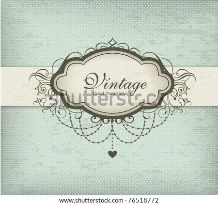 Vintage card design - stock vector