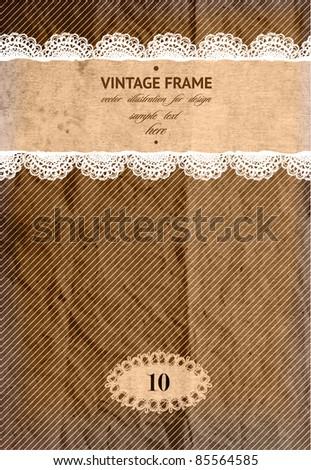 Vintage card design - stock vector