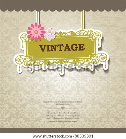 vintage card design for greeting card, invitation, menu, cover... - stock vector