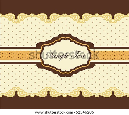 Vintage Card or package design - stock vector