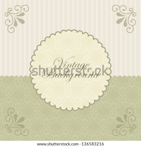 vintage card over green background. vector illustration