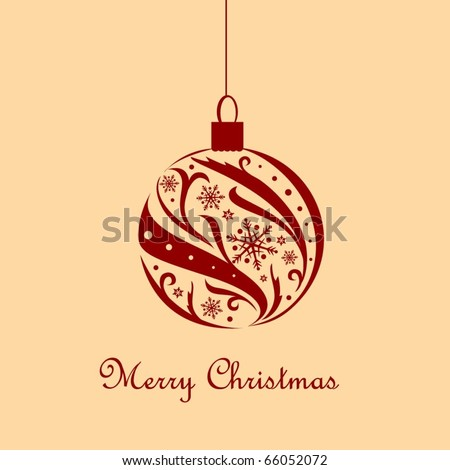 Vintage card with Christmas ball - stock vector
