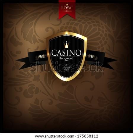 Vintage casino background, elegant - stock vector