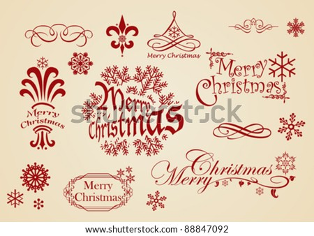 Vintage Christmas - stock vector