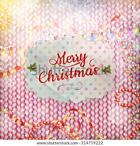 Vintage Christmas Card. EPS 10 vector file included - stock vector