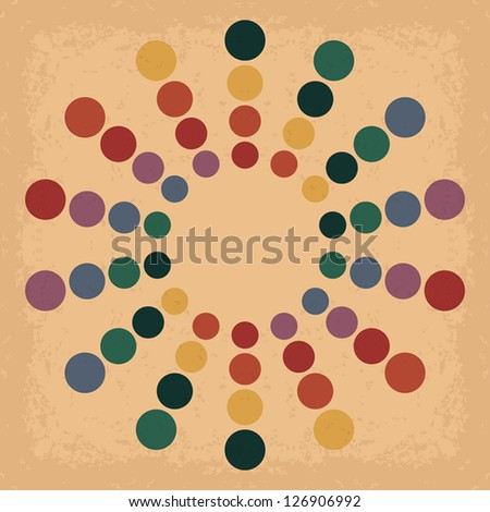Vintage Circle. Universal: Background Pattern Texture. Vector illustration EPS10 - stock vector