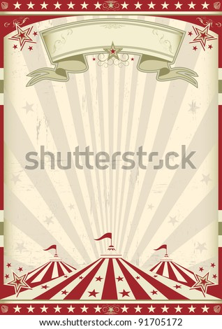 Vintage circus. a circus vintage poster for your advertising - stock vector
