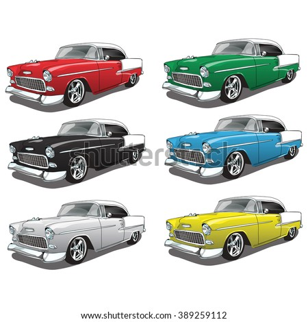 vintage classic car in multiple colors - Classic Car Colors