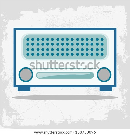 Vintage Clip Art. Vector illustration of vintage radio. Vector illustration of a retro radio. Retro card with old radio. - stock vector