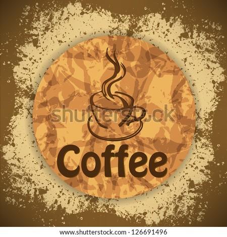 vintage coffee background - stock vector