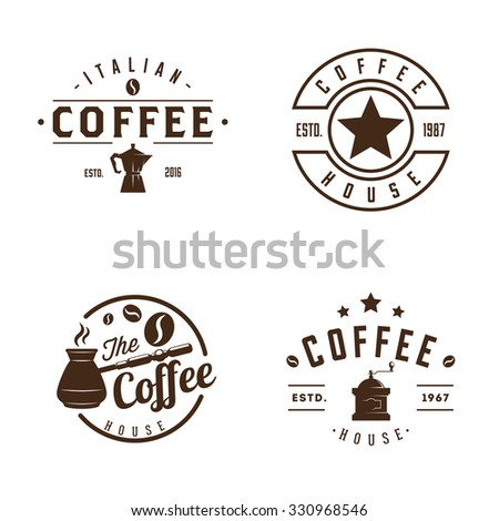 Vintage coffee labels and badges - stock vector