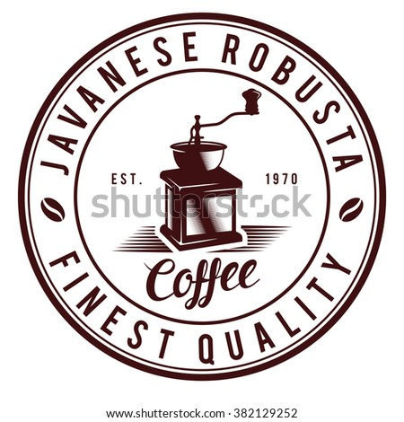 Vintage Coffee logo badges - stock vector