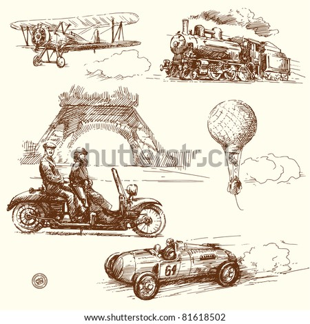 vintage collection - stock vector