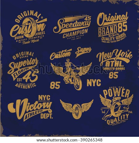 Vintage college print design vintage original stock vector for Original t shirt designs