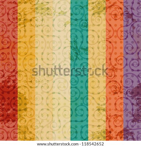 vintage color line seamless - stock vector