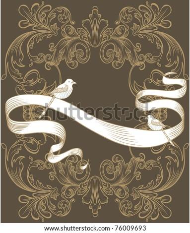 vintage cool classic card design - cover design - tag - invitation - stock vector